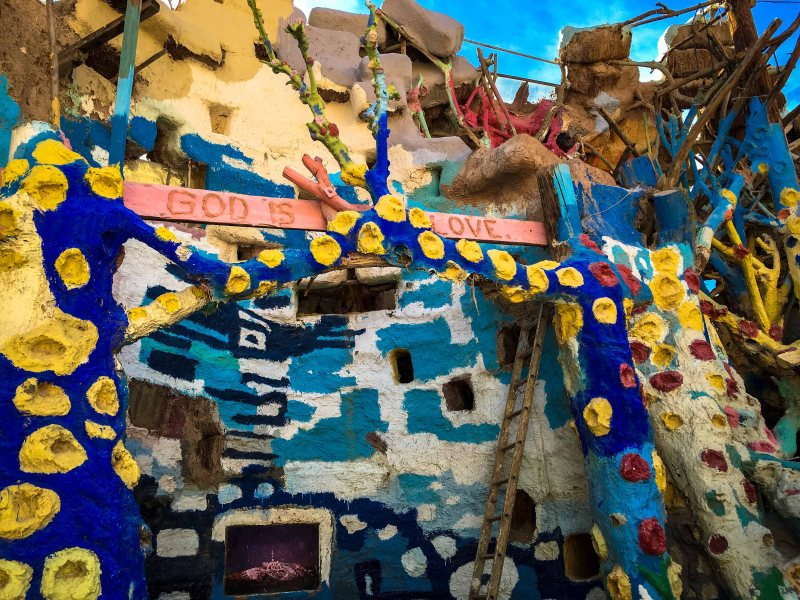 Salvation Mountain Interior