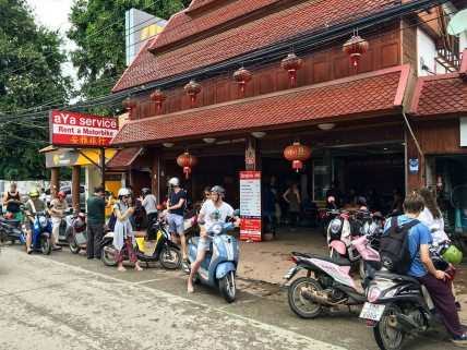 Motorbikes in Pai - shop